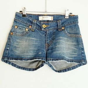 Levi's Shorts Jean Slouch 504 Low Rise Faded 5